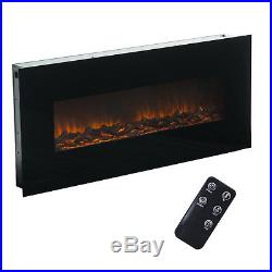 50 Electric Insert Heater Wall Mount Fireplace Led Flame Log with Remote Control