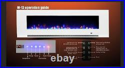 50 Inch Led'digital Flames' White Black Insert Wall Mounted Electric Fire 2021