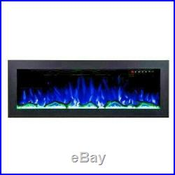 50 Inch'digital Flames' Black Recessed Insert Very Thin Border Electric Fire