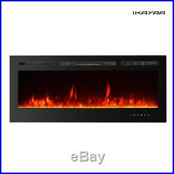50 Insert Recessed Electric Fireplace Firebox Heater Remote Touch Control