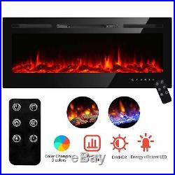 50 Recessed Electric Fireplace heater Insert withTouch Screen Adjustable Flame US