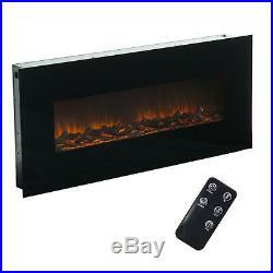 50 Wall Mounted Insert Electric Fireplace Heater 3D Flame Log