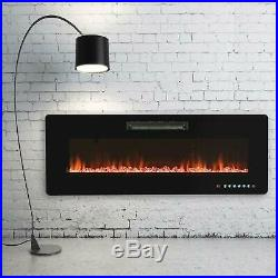 50 Wall Mounted Insert Electric Fireplace Heater LED Flame with Remote Control