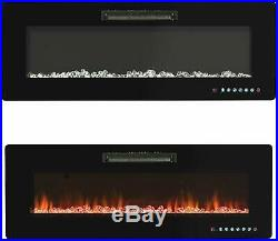 50 Wall Mounted Insert Electric Fireplace Heater with Remote Control 750With1500W