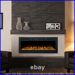 50 inch Recessed or Wall Mounted Electric Fireplace Insert w Remote 750W 1500W