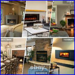 50inch Recessed or Wall Mounted Electric Fireplace Insert w Remote 750W 1500W