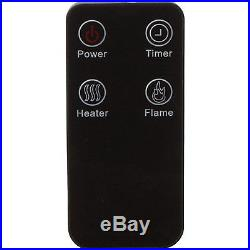 5100 BTU Electric Log Metal Insert Heater Fan with Real Flame Effect with Remote