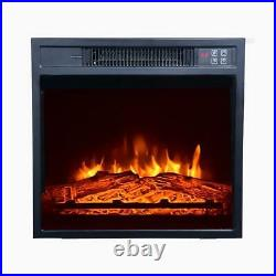 51 TV Stand Console with 18 Electric Insert Fireplace Heater 6282°F Remote US