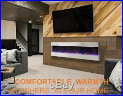 60 50 Inch Black Recess Insert Wall Mounted Glass Electric Fire 3 Sided 2020