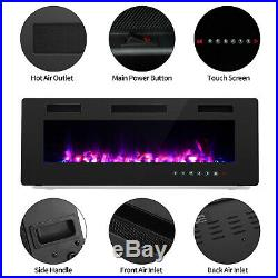 60 Electric Fireplace Insert, Wall Mounted/In Wall 3.86 Ultra Thin 750/1500W