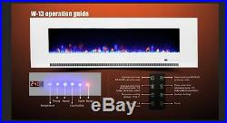 60 Inch Led'digital Flames' White Black Insert Wall Mounted Electric Fire 2020