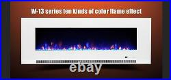 60 Inch Led'digital Flames' White Black Insert Wall Mounted Electric Fire 2021