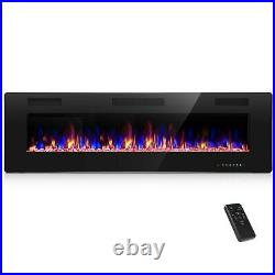 60 Recessed Electric Fireplace Insert Wall Mounted Fireplace Heater
