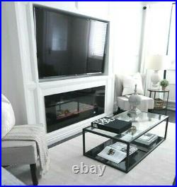 72 Inch Led Digital Flames Black Insert Wall Mounted Electric Fire 2021