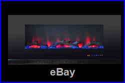 72 Inch Led'digital Flames' Modern Black Insert Wall Mounted Electric Fire 2020