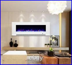 82 Inch Led Digital Flames Modern Black Insert Wall Mounted Electric Fire 2021