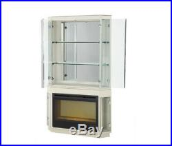 AICO Furniture Beverly Blvd Fireplace with Curio Top & Electric Insert 06220