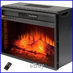 AKDY 23 Black Freestanding Electric Firebox Fireplace Heater Insert WithRemote