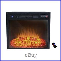 AKDY 23 Black Remote Control Electric Tempered Glass Insert Fireplace Heater