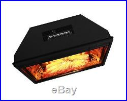 AKDY 28 Freestanding Electric Fireplace Insert Heater in Black with Tempered