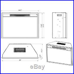 AKDY 28 in. Freestanding Electric Fireplace Insert Heater with Tempered Glass