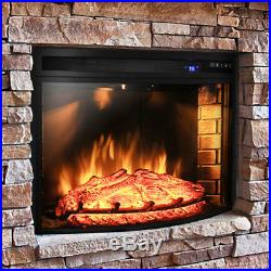 AKDY Curved Electric Fireplace Insert