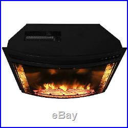 AKDY Curved Wall Mount Electric Fireplace Insert