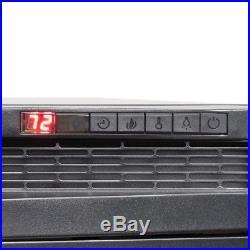 AKDY Electric Fireplace Insert Heater Freestanding Black Glass Remote Blower
