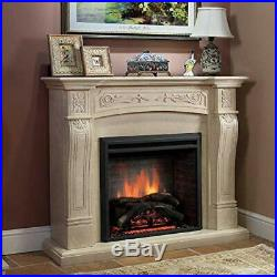 A 26 Inches Western Electric Fireplace Insert, 750/1500W, Remote Control, Black