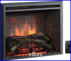 A 26 to 33 Inch Western Electric Fireplace Insert With Remote Control, 750/1500W