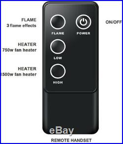 A 30 Inches Western Electric Fireplace Insert, 750/1500W, Remote Control, Black