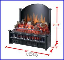 Adjustable Flame 23 in. Electric Led Fireplace Insert with Heater, Remote Control