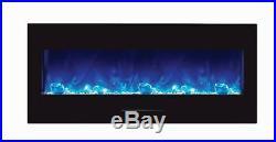 Amantii 50 Electric Fireplace Wall Mount Insert #WM-FM-50-BG