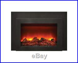 Amantii Electric Fireplace Insert with Black Surround/Overlay, 34