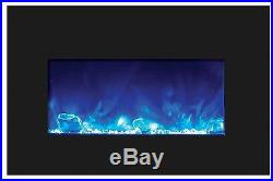 Amantii INSERT-30-4026-BG Insert Series Electric Fireplace with Ice Media Kit, 3