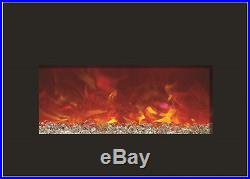 Amantii Medium Insert 30-4026 Built-in Modern Linear 30 Wide Electric Fireplace