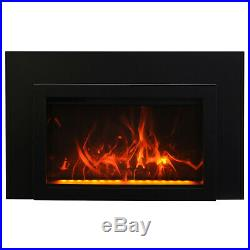 Amantii Traditional Electric Fireplace Insert with Logs & 3-Sided Surround, 26-I