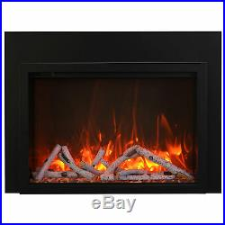 Amantii Traditional Electric Fireplace Insert with Logs & 3-Sided Surround, 38-I