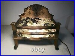 Antique Victorian Electric Cast Iron Fire Place Grate insert wood coal basket