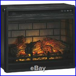 Ashley Furniture Electric Infrared LED Fireplace Insert in Black