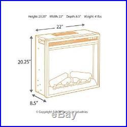 Ashley Furniture Signature Design Medium Electric Fireplace Insert Includes