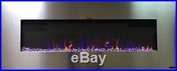 AudioFlare Stainless 50 Insert/Recessed Electric Fireplace With 3 Colors and Bl
