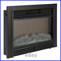 BCP 28.5in Insert Electric Fireplace Heater with Adjustable Brightness, Remote