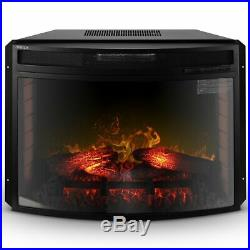 BELLEZE Embedded Electric Fireplace Insert Freestanding Heater Remote Glass