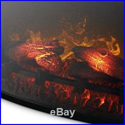 BELLEZE Embedded Electric Fireplace Insert Freestanding Heater Remote Glass View