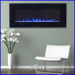 Best Electric Fake LED Fireplace Insert Screen Heater Decor TV Stand Wall Mount