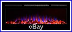 Best Electric Fireplace Insert Wall Heater Mount Recessed 50 Inch Heaters