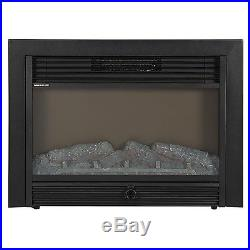 Best Indoor Fireplace, Electric Insert Embedded Wall Remote Log Heater SKY1826