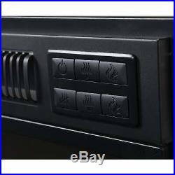 Black Metal 24-inch Electric Firebox Insert Black