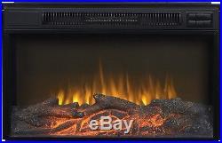 Black Metal 30-inch Wide Electric Firebox Insert